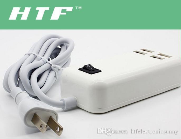 portable mobile phone charger 5V 4A 30W 4Port USB Desktop Charger Socket With 1.5M EU US UK Plug DHL