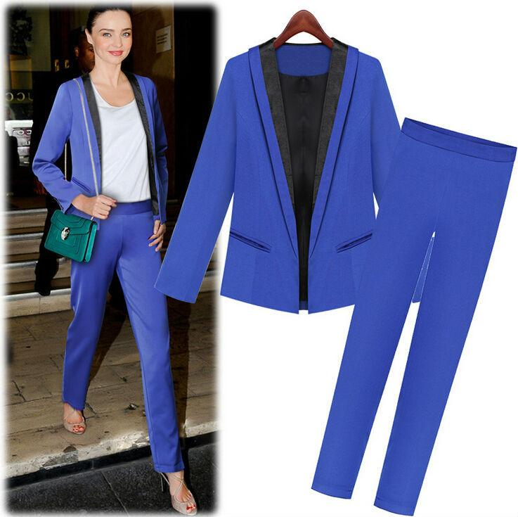 2018 2015 New Spring Work Wear Fashion WomenS Suit For Ladies Formal Business Sets Elegant Red Slim Blazers And Pants From Tenda Ltd 5428