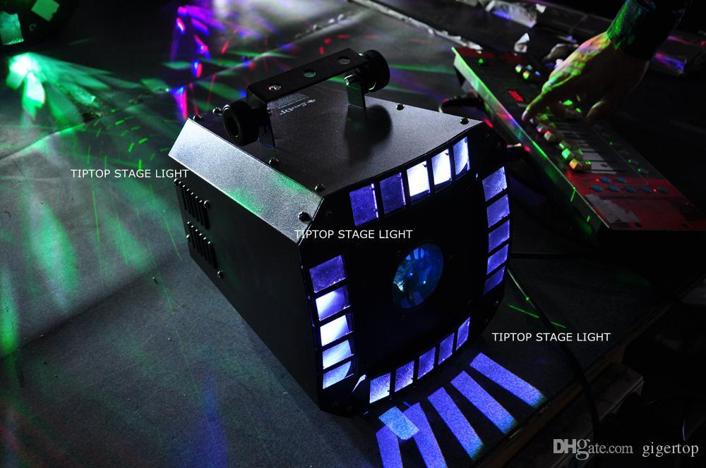 Economico LED Diamond Light RGBA 4 in 1 Leds Incredibile effetto Derby rotante Beam Gobo Light Certificato CE