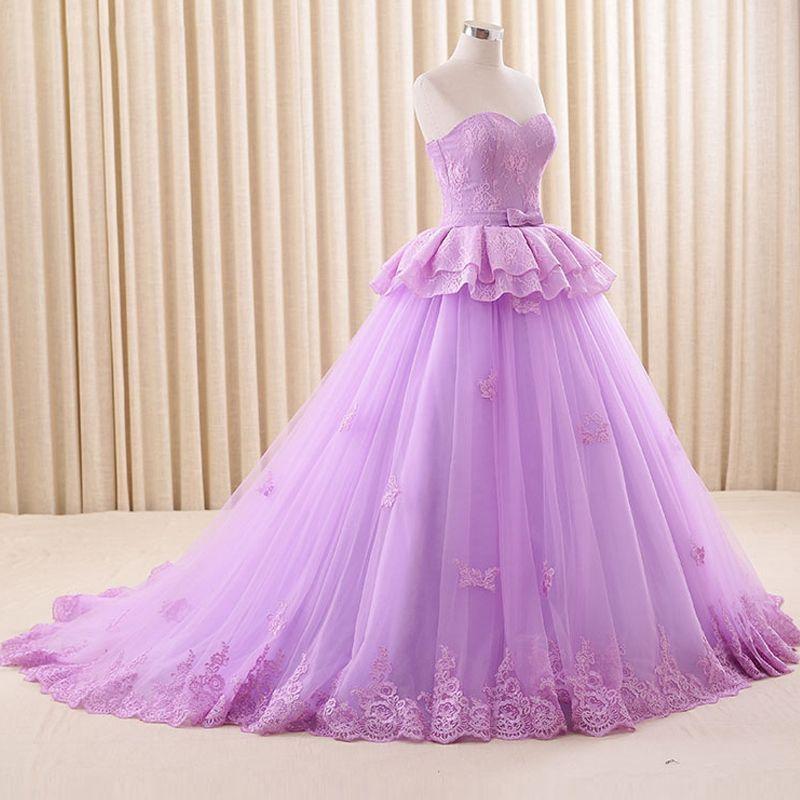 Compre Impresionante Vestido De Fiesta De Color Púrpura Claro ...