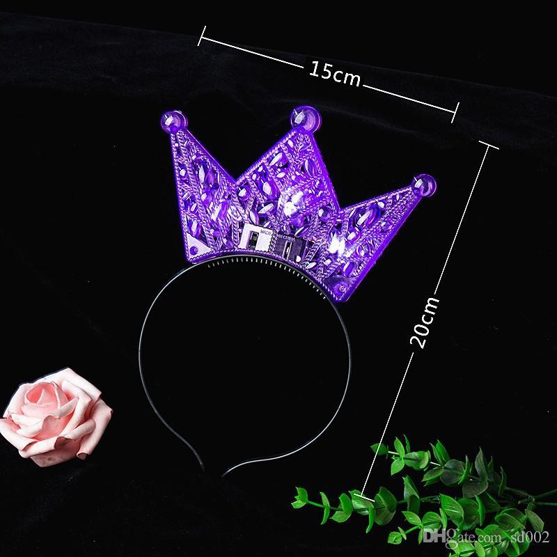 Güzel Çocuklar Kafa Bandı Aydınlık LED Işık Saç Hoop Cadılar Bayramı 2 19by Için Tasarım Plastik Taç Kafa Oymak B