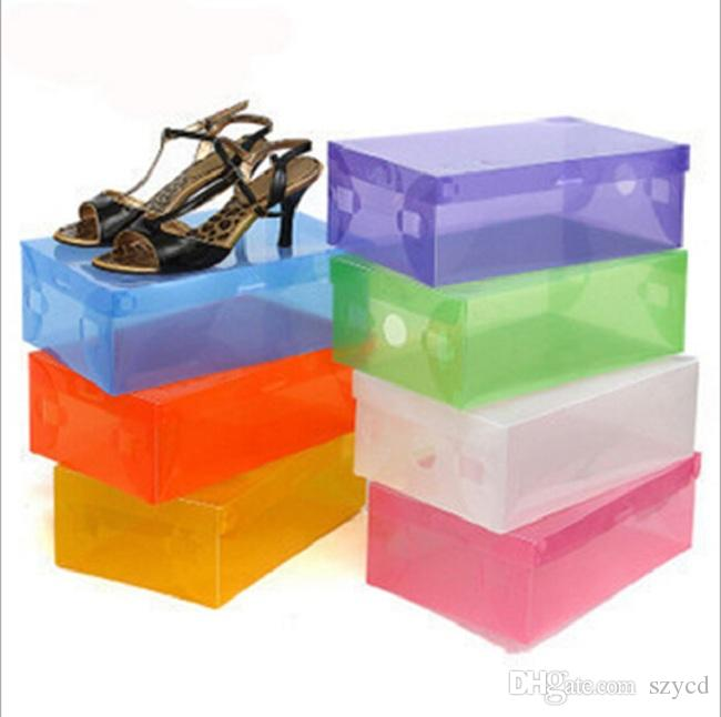 folding transparent shoe boxes clear plastic pp storage box packaging boxes for shoes for women