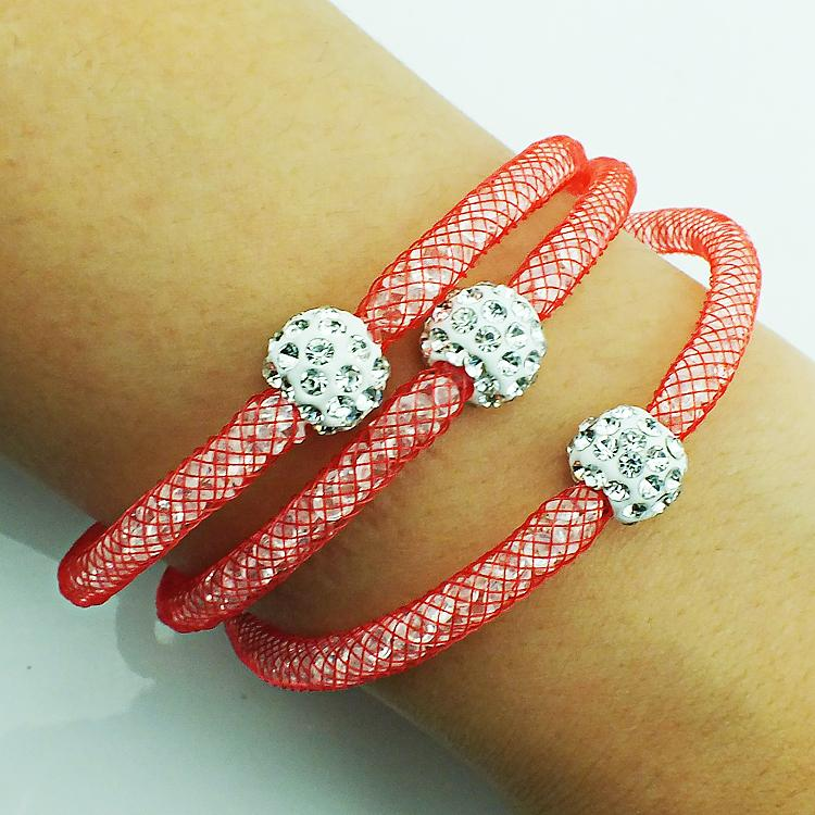 Mix Ventes De Mode Lien Bracelets Cristal Maille Fermoir Magnétique Multicouche Chaîne Strass Perles Bracelets Bracelets Bijoux