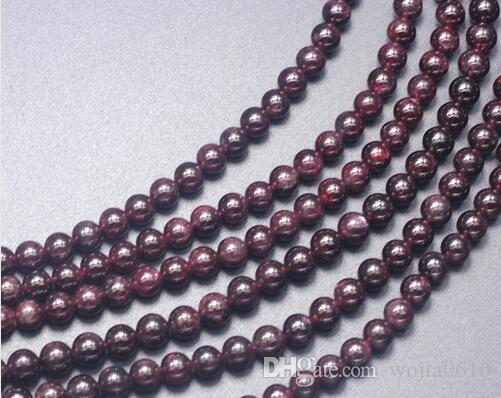 Trasporto libero nuovo pietra naturale rosso scuro granato rotondo branelli allentati 16