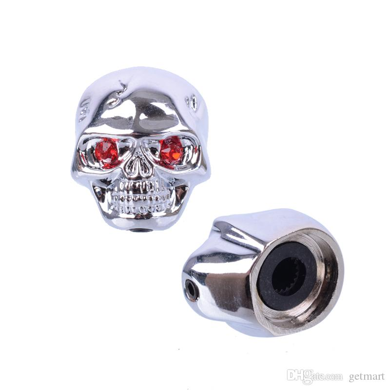 Chrome Metal Skull Head Control Knobs for Electric Guitar Guitar Pots Tone Volume Control Knobs/Buttons
