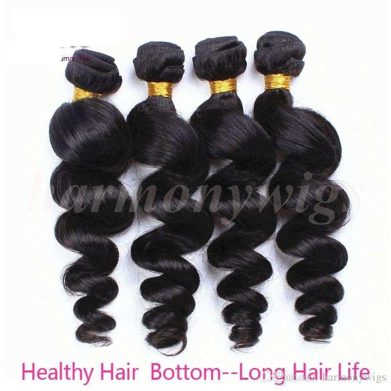 Virgin Brazilian Hair Weaves human hair bundles Loose wave 8-34inch Unprocessed Wefts Peruvian Malaysian Indian Dyeable hair extensions