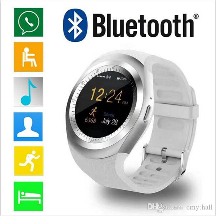 release date: 284f6 4a6c8 Y1 Smart Watch For iPhone X 8 7 Plus Android Cell Phone Bluetooth  Smartwatch For Galaxy S8 Note 8 PK U8 DZ09 GT08 with retail package