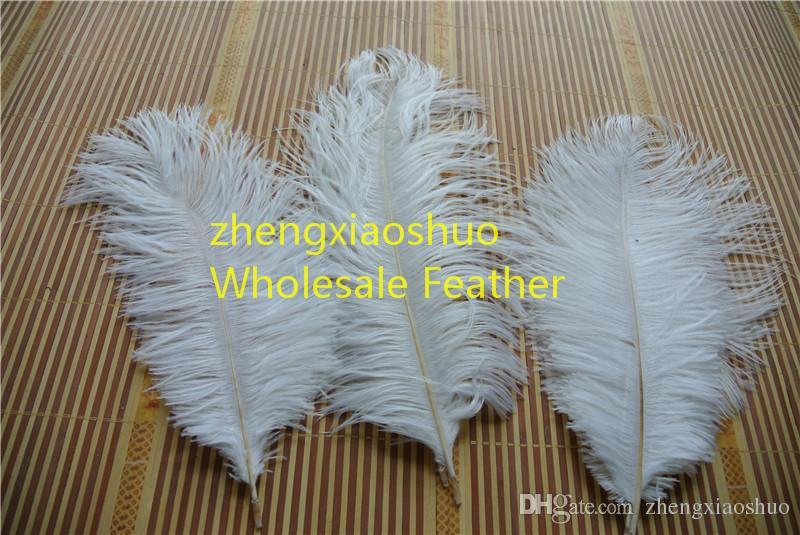 Plume d'autruche plume blanc 14-16 pouces 35-40cm décoration de mariage centres de table fête événement fournitures festive fournitures mariages décor