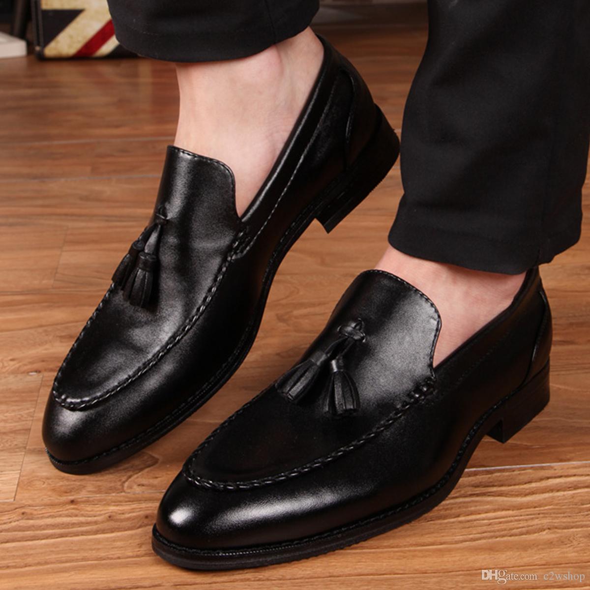 Elegant Charming Quality Leather Tassel Oxfords Shoes Mens