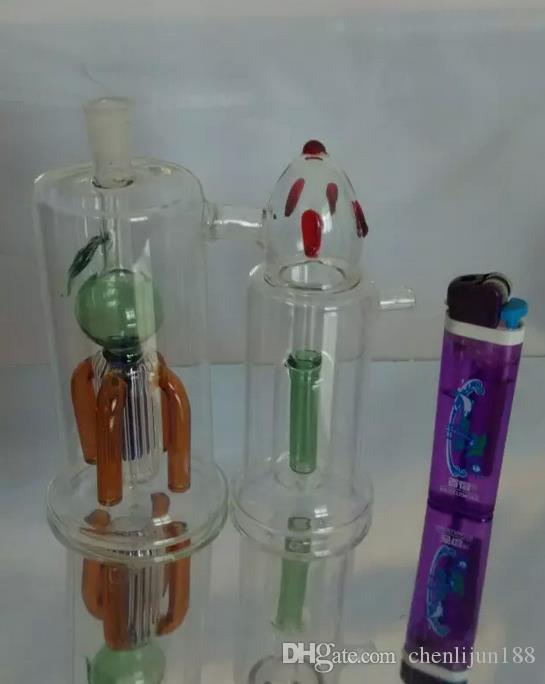 Gros narguilé en verre, pièces de bong, narguilé en verre siamois jumeaux, livraison aléatoire de couleur, livraison gratuite, grand mieux