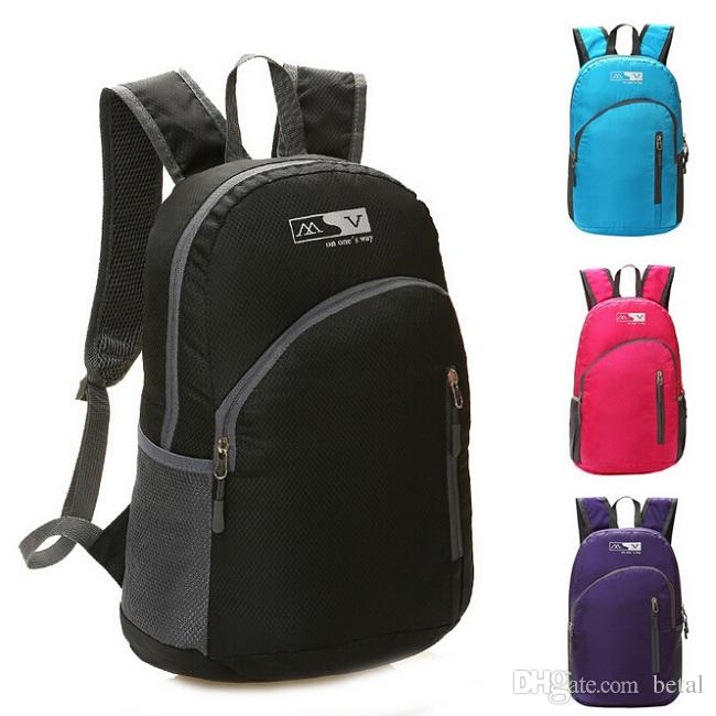 Waterproof Foldable Bicycle Backpack Outdoor Sport Women Men Small Camping Backpack  Hiking Climbing Backpack School Bags Bike Pannier Bags Bike Rack Bags ... 0a00c0cf7