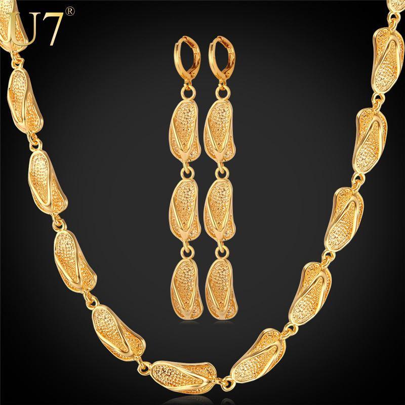 Dubai Gold Plated Jewelry Set 2016 New Fashion Jewelry 18K Gold