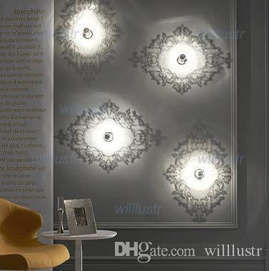 الحديث جوزفين 5D الجدار الشمعدان مصباح الظل ضوء شفاف الاكريليك الجدة تركيبات الإضاءة غرفة السرير فندق بار مطعم كافيه