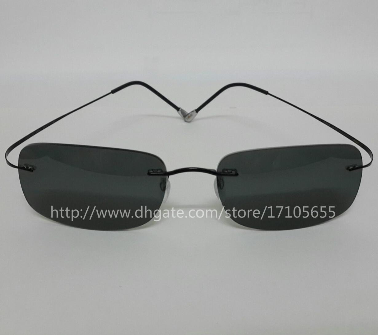 Compre Silueta Sin Montura Gafas De Sol Polarizadas De Los Hombres ...