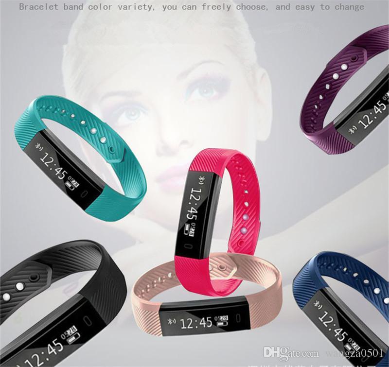 ID 115 Smart Herzfrequenzband Handgelenk Fitness Activity Tracker Bluetooth 4,0 Smartband Sport Armband IOS und Android Veryfit Wasserdicht