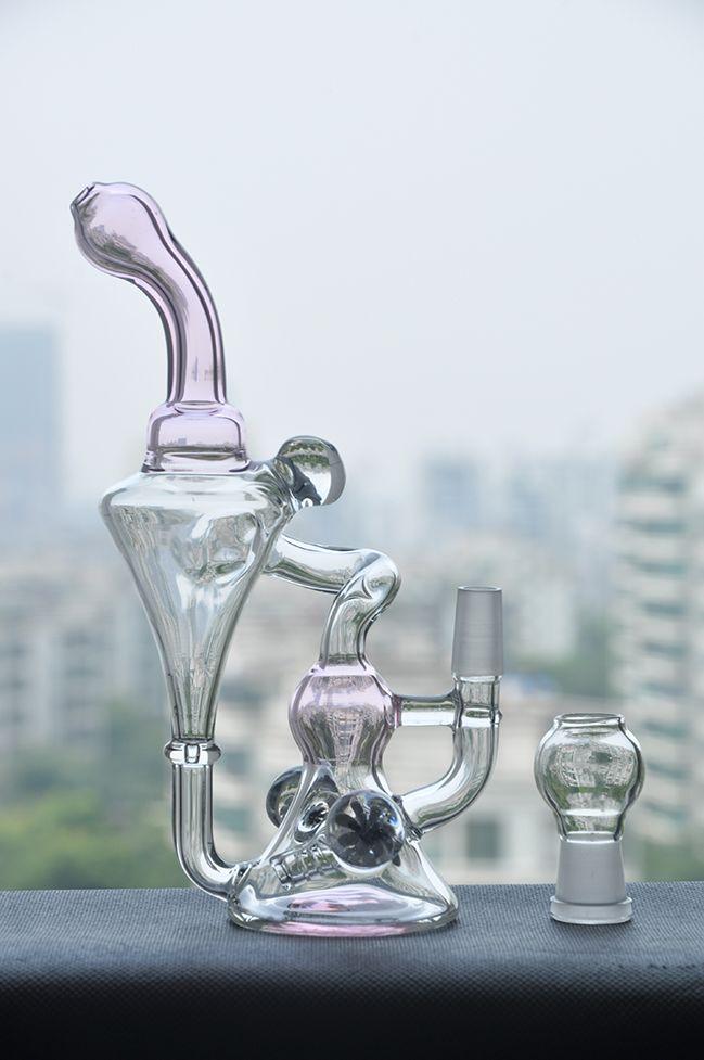 tuyaux d'eau verre narguilé recycler verre pipe à eau narguilés usine vente fumer verre tuyau joint taille 14.4mm