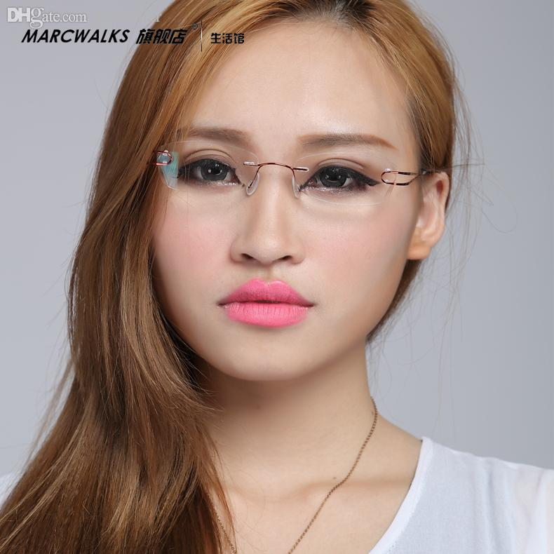 e38dfd732993 Wholesale-Ultra-light Pure Beta . Titanium Rimless Glasses Myopia ...