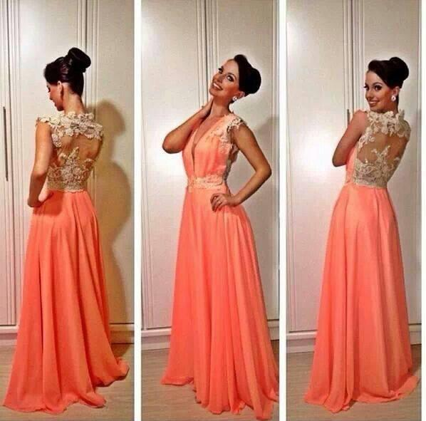 Coral Evening Gown Dresses for Women