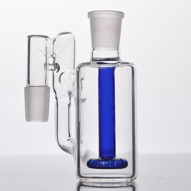 Catégorie de cendrier en verre de couleur bleu ou clair de couleur 18.8mm Fumeur Recycler Tuyau d'eau Bong Catcher Capteur Pure Couleur Assortie