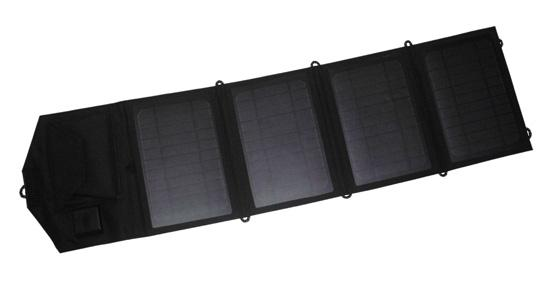 Mono 14W 5V Dual USB Folding Solar Panel Solar Charger for Phone iPhone iPad Samsung