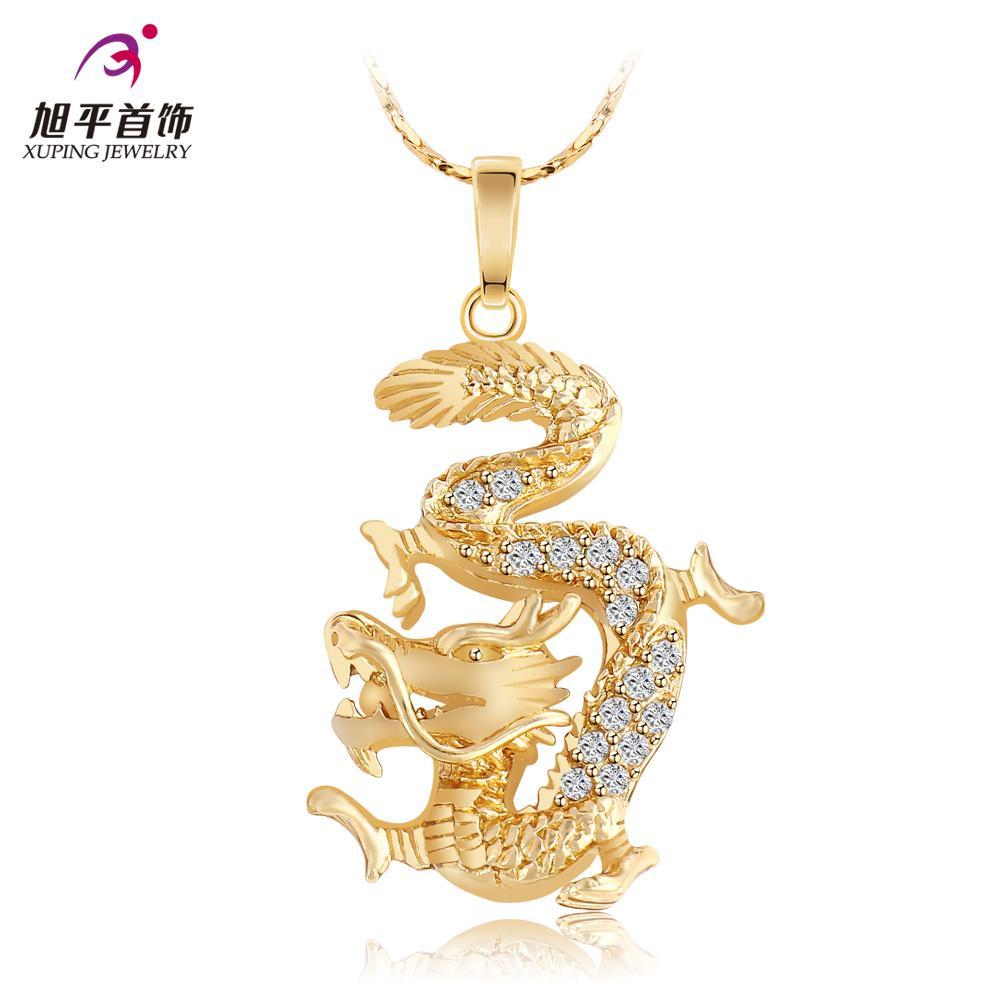 Compre dragn chino chapado en oro de joyera de moda xuping prrafo compre dragn chino chapado en oro de joyera de moda xuping prrafo corto clavcula collar retro auspicioso collar de regalo de cumpleaos a 8443 del aloadofball Choice Image