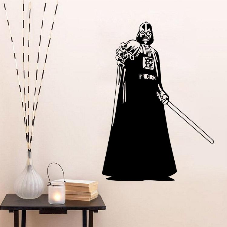 Star wars wall decals darth vader vinyl sticker boys bedroom wall decor star wars poster wall sticker wall vinyl stickers wall vinyls from elizafashion