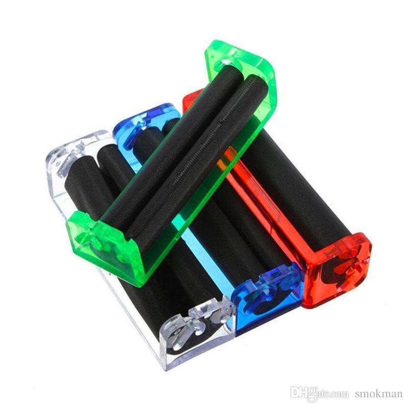 Plastic Rolling Machine Length 70mm Protable Tobacco Roller Cigarette Maker Filter Tool Device Plastic Grinder Roller