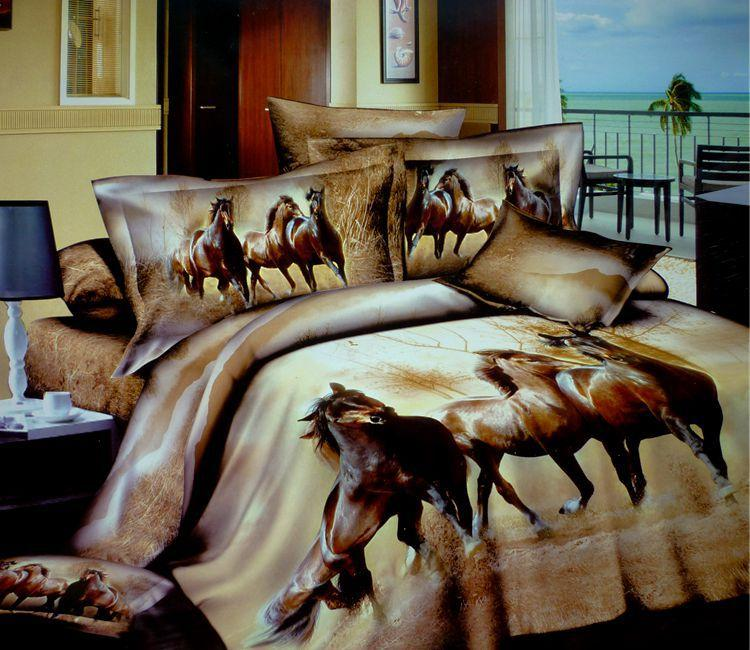 3d Horse Design Patterns Print Bedding Comforter Sets Queen Size Bedspreads  Duvet Cover Bed Designer Bedroom Sheet Bedroom Quilt Cotton Queen Size  Comforter ...
