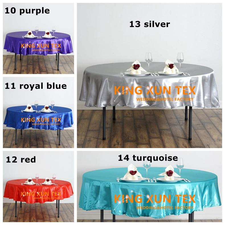 """Nice Looking 90"""" Round Satin Table Cloth \ Cheap Wedding Tablecloth For Event Party Decoration Free To Door Shipping"""