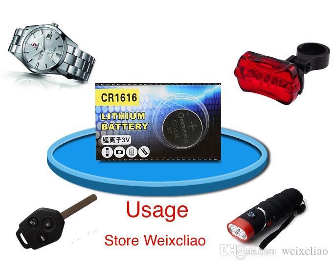 1 개 CR1616 3V 리튬 이온 버튼 전지 CR 1616 3 볼트 리튬 이온 배터리 무료 배송