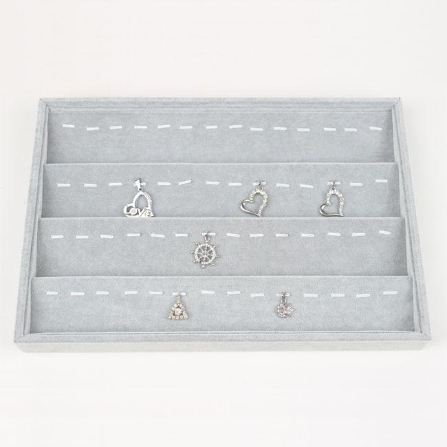 Tonvic Odmiany Wysokiej Jakości Gray Velvet Naszyjnik Bransoletka Pierścień Kolczyk Koraliki Przykładowe Komory Biżuteria Pokaż Wyświetlacz Taca