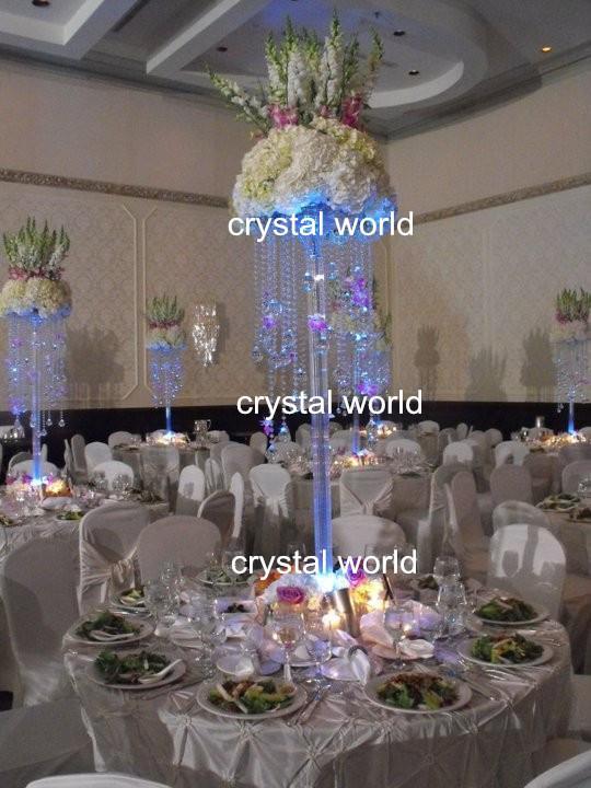 Flower Centerpiece Crystal Wedding Tall Flower Vase Centerpieces