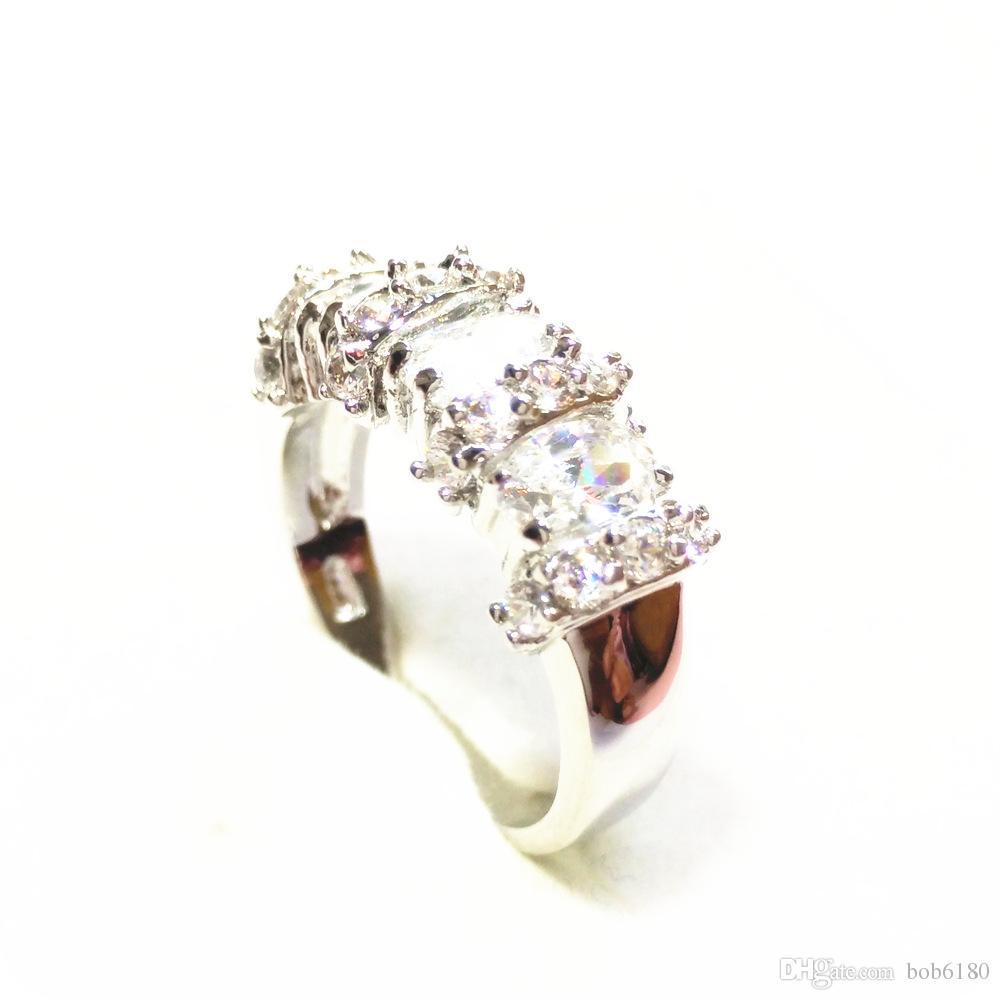 High Quality EXQUISITE 3.0CT NATURAL SAPPHIRE 14KT WHITE GOLD GEMSTONE RING -SW30