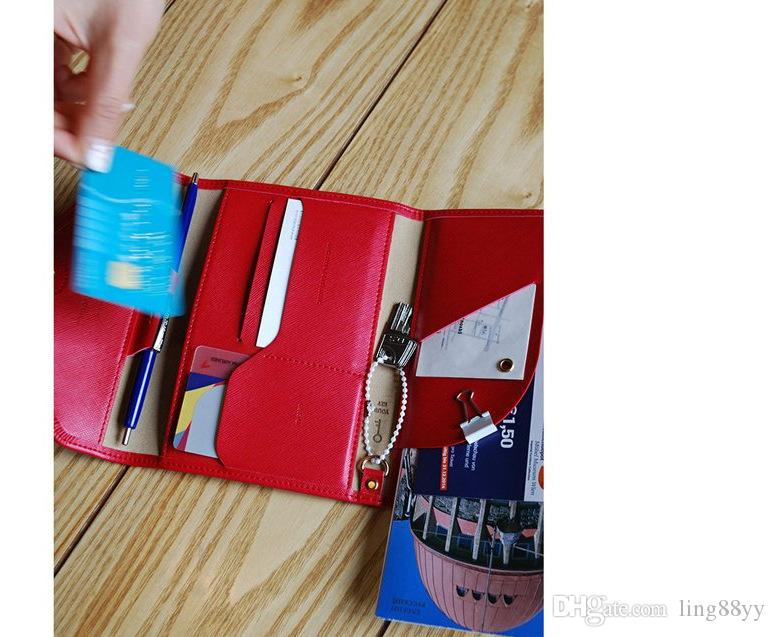 2017 Wholesale minimalist travel passport leather covers wallet card women coin wallet fashion credit card holder