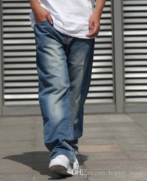 New Fashion popolare skateboard pantaloni larghi jeans da uomo Hip Hop Leisure pantaloni grandi dimensioni 30-46 -077 #