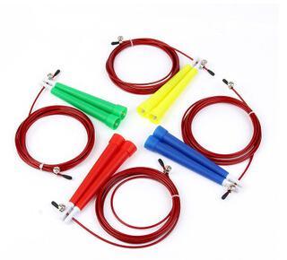 Venda quente 3 M Corda De Fio De Aço de Alta Velocidade Salto Pular Corda de Salto Ajustável Crossfit