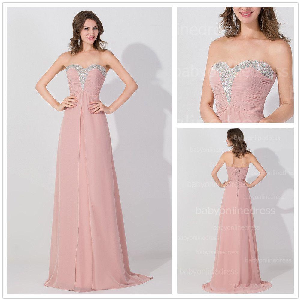 Hot Sale Dusty Rose Cheap Long Bridesmaid Dresses Summer