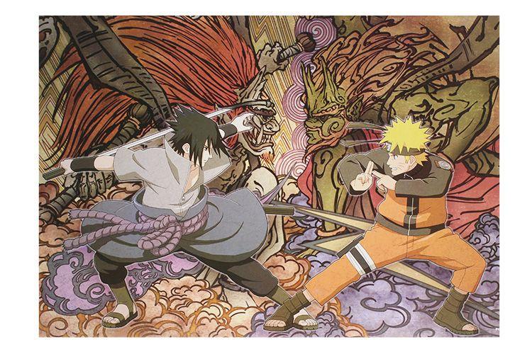 아니메 나루토 애니메이션 포스터 벽에 스티커 장식 / 세트 42X29CM 고품질 무료 배송