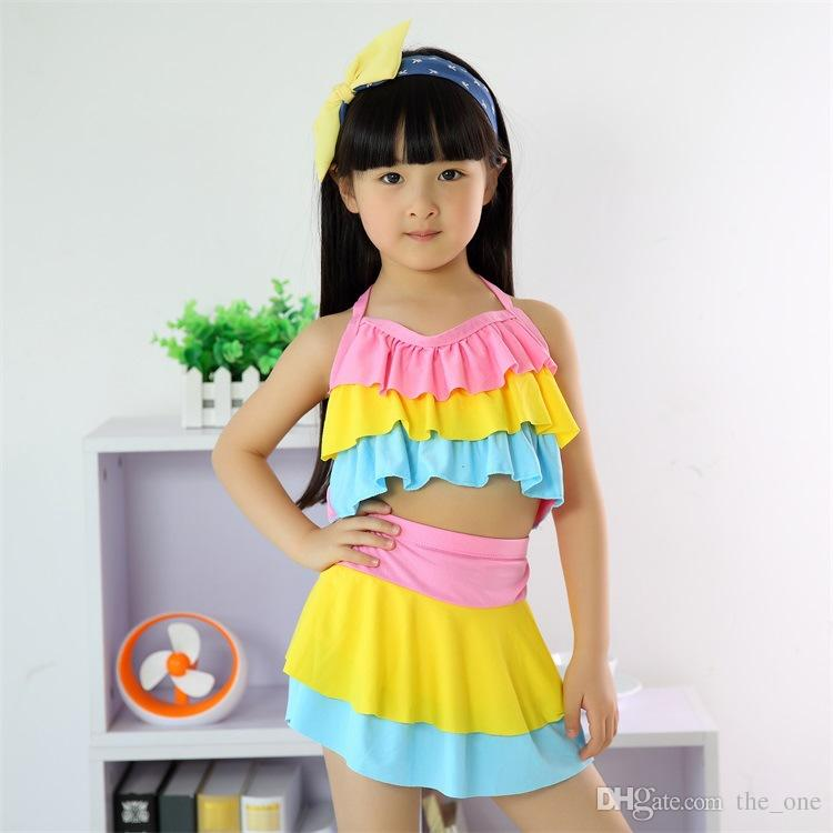 Two Piece Swimsuits Baby Swimwear Children Swimming Pool Suits Cake