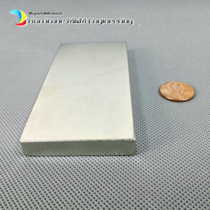 """1 Pack Grade N52 NdFeB Block 100x50x10mm about 3.94"""" Rectangle Bar Strong NdFeB Bar Neodymium Permanent Magnets Industry Magnets"""