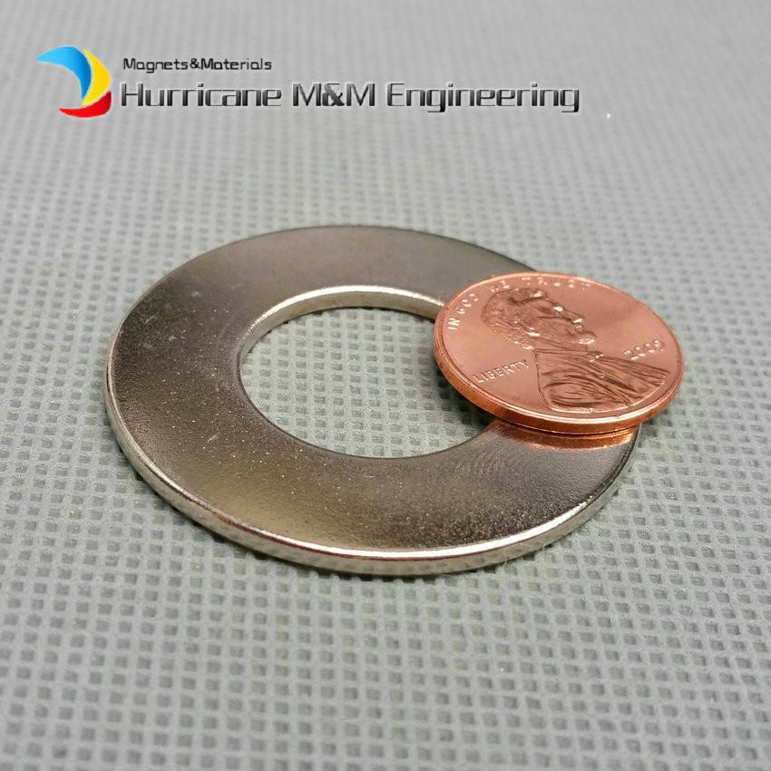 1 Pack NdFeB Aimant Anneau OD 40x20x2 +/- 0.1 mm Diamètre 1.57 '' Rond Aimants Forts Magnétisés Axialement NiCuNi Enduit Aimants de Terre Rare