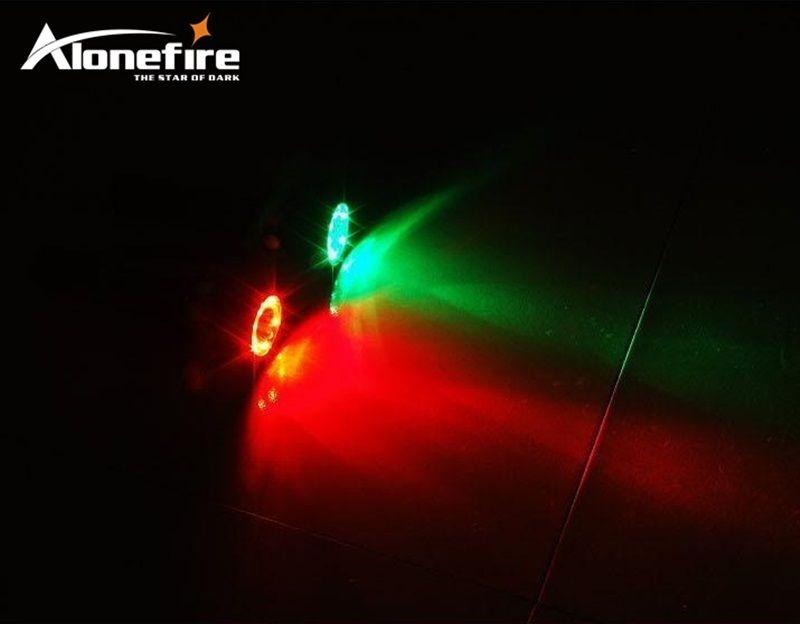 ALONEFIRE RX3-RWG USB güç kaynağı CREE XPE Q5 LED Kırmızı Beyaz Yeşil Demiryolu Bakım personeli Sinyal lambası el feneri meşaleler