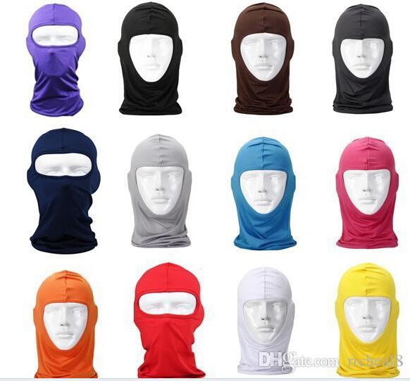 Máscara Balaclava Máscaras de Guarda Pescoço Rosto Cheio À Prova de Vento Ninja Chapelaria CS Hat Equitação Caminhadas Esportes Ao Ar Livre Bicicleta Ciclismo Máscaras protetor solar perucas