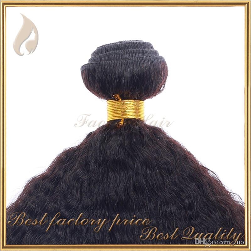 2016 hot sell kinky straight hair weave coarse yaki italian yaki hair extension natural color chinese virgin human hair weft