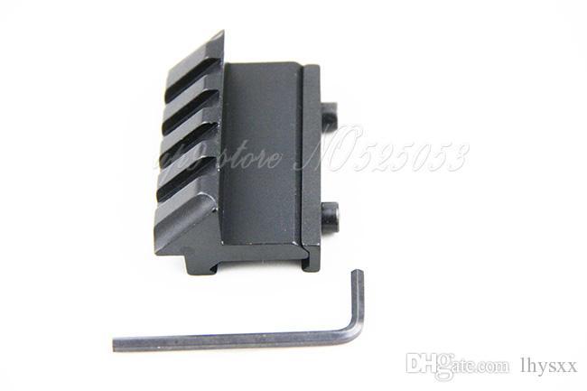 Caccia Air Gun Airsoft 45 gradi Offset 20 millimetri Rail Mount 4 slot fucile Weaver Picatinny Flash Light Laser