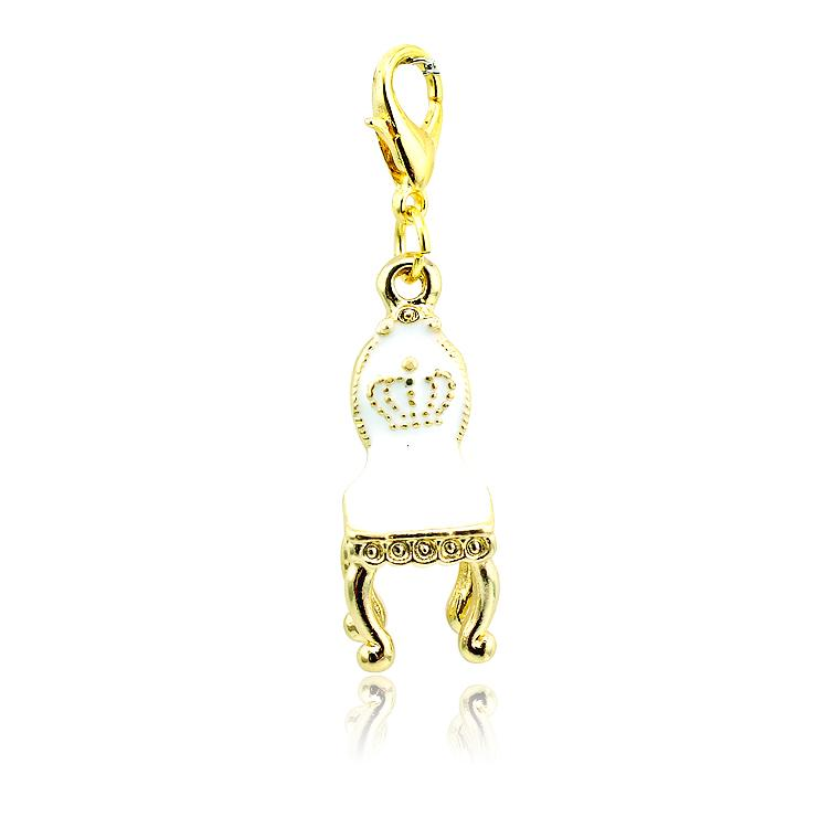 Fashion Lobster Clasp Charms High Quantity Gold Plated Enamel Chair Charms DIY Jewelry Accessories