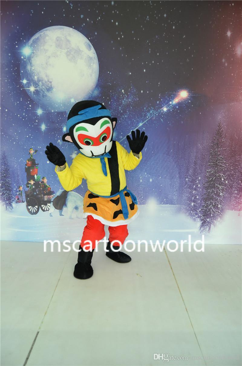 Il costume della mascotte Monkey King costume di alta qualità dimensione adulta del partito vestiti del partito di Halloween, Natale