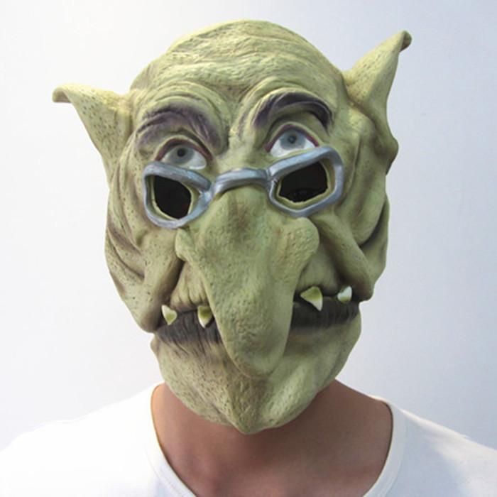 New Glasses Man Elastic Latex Mask Big Nose Old Man Full Face Masks