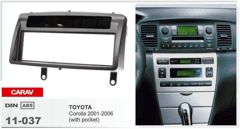 Wholesale Car Parts >> Carav 11 037 Car Stereo Radio Fascia Plate Panel Frame Kit For Toyota Corolla 2001 2006 Stereo ...