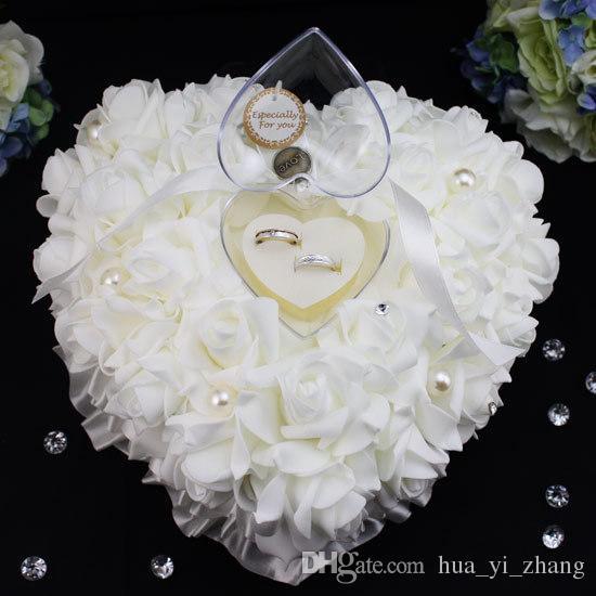 2020 Kwiat Pierścień Poduszki Kolory Akcesoria Bridal Materiały ślubne 20 * 20 cm Ręcznie Made Flowers Akcesoria ślubne Dhyz 01